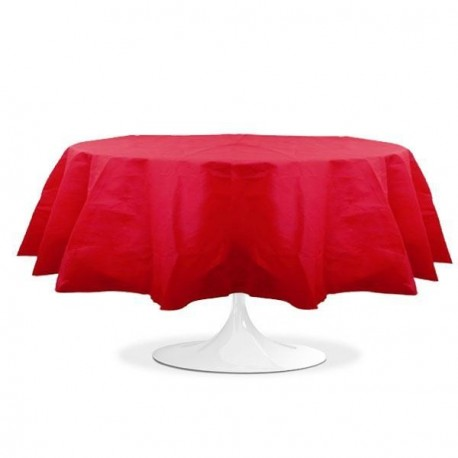 nappe ronde mariage rouge pas cher
