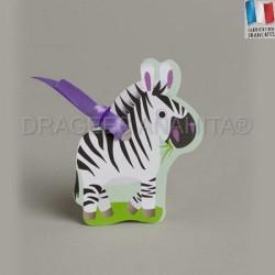 Etiquette à dragées bapteme zebre
