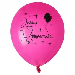 8 Ballons gonflables Anniversaire
