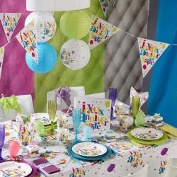 Banderole joyeux anniversaire multicolore