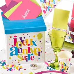 Tirelire anniversaire multicolore