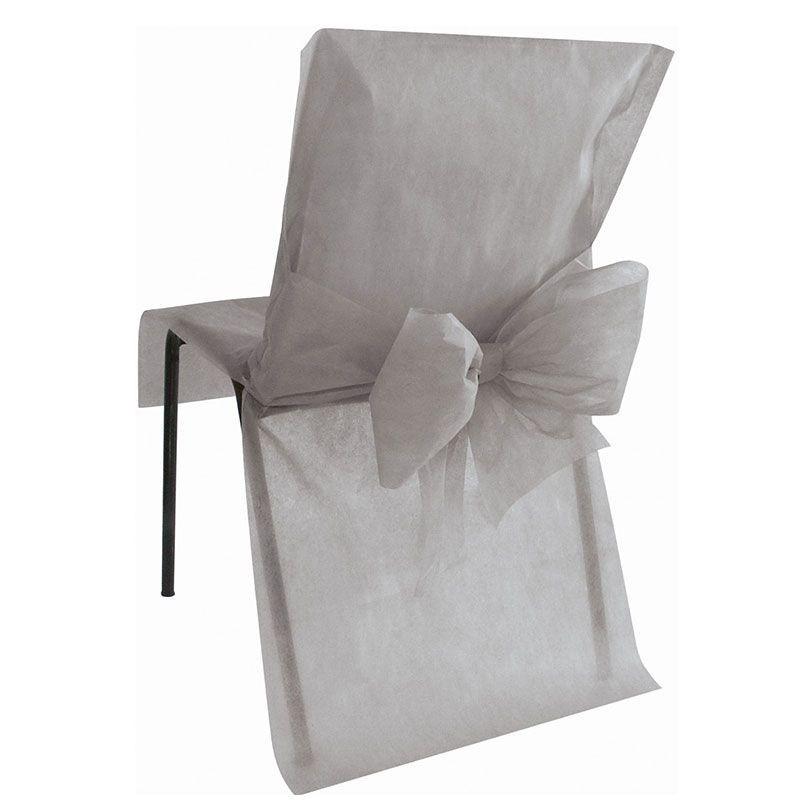 Choisissez ces housses de chaises avec noeud pour votre mariage - Noeud pour chaise de mariage ...