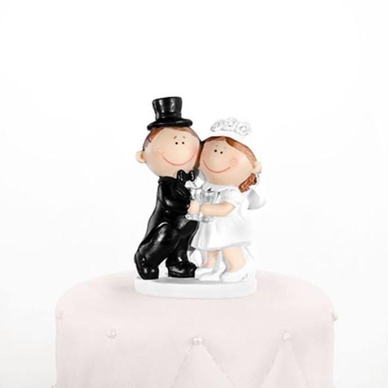 figurine de mariage pas cher couple heureux - Sujet Dragee Mariage Pas Cher