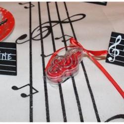 Contenant dragées note de musique
