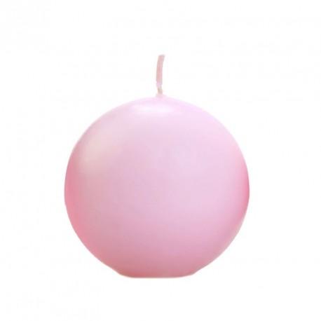 Bougie boule rose poudré 6cm