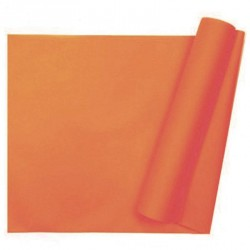 Chemin de table uni orange