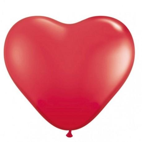 10 ballons coeurs rouges métalisés