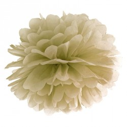 Pompon Or 35 cm