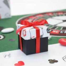 Contenant dragées cube thème casino