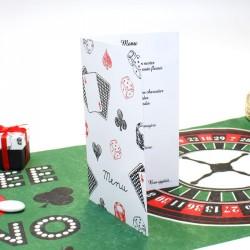 Menu thème casino avec impression