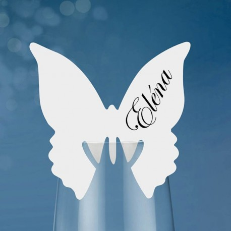 10 Marques places papillon pour verre