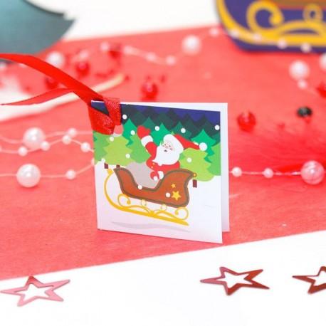 Etiquette cadeaux de Noël père Noël