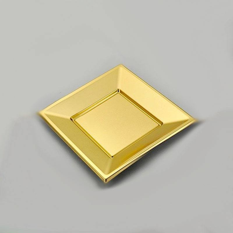 petites assiettes dor es carr es pas cher drag es anahita. Black Bedroom Furniture Sets. Home Design Ideas