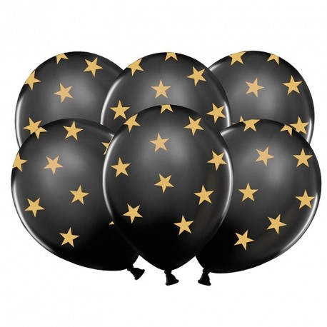6 Ballons gonflables étoiles fête de fin d'années