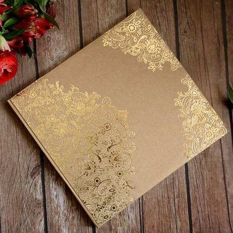 Livre d'or Kraft arabesque doré