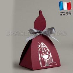 Boites à dragées en forme de cierge boite à dragées communion