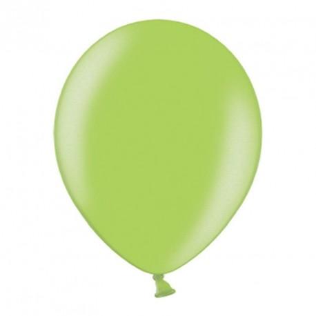 10 ballons vert anis métalisés