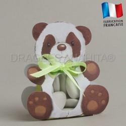 Ballotins dragées thème panda boites à dragées baptême naissance
