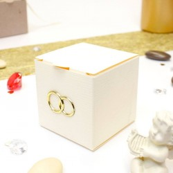 Cube à dragées ivoire pas cher