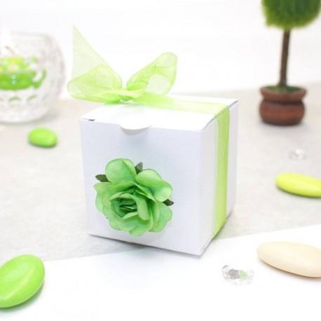 Cube à dragées blanc pas cher