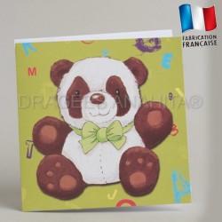 Faire part bapteme naissance theme panda