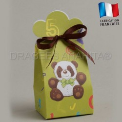 Ballotins à dragées thème panda  ballotins dragées bapteme