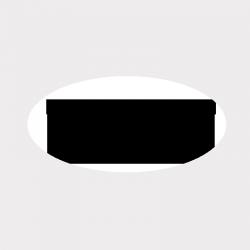 Etiquette ovale transparente autocollante