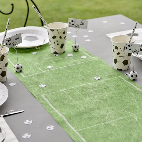 Chemin de table terrain de foot