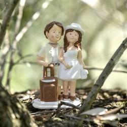 Figurine mariage thème voyage