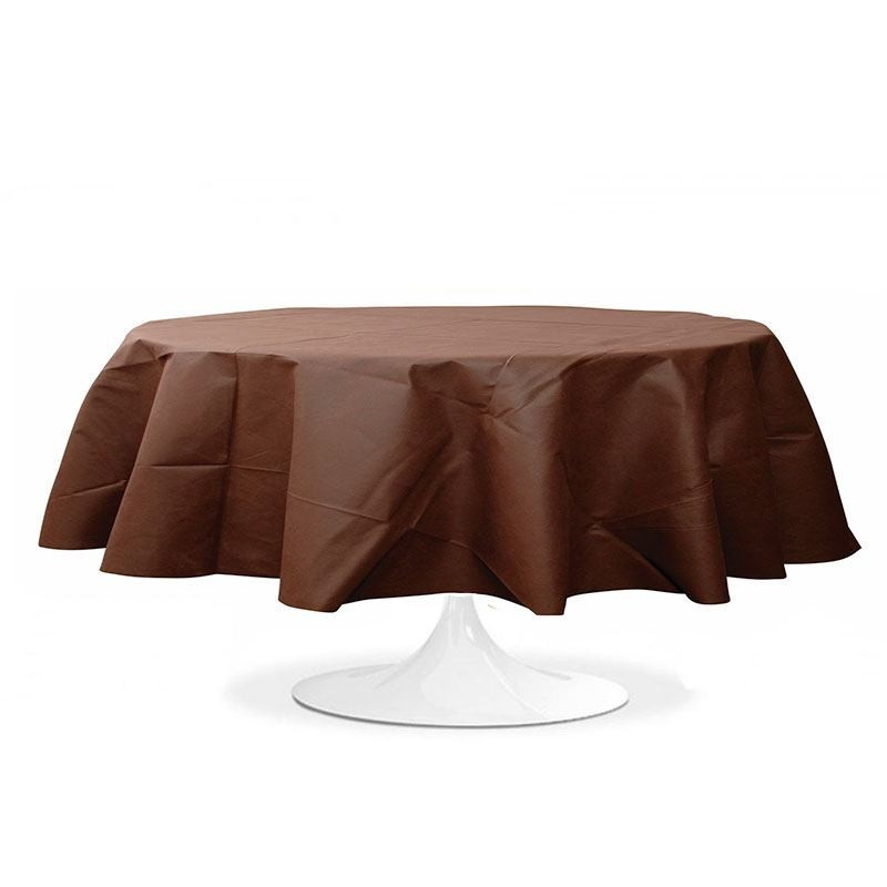 nappe ronde pas cher chocolat pour mariage et f te drag es anahita. Black Bedroom Furniture Sets. Home Design Ideas