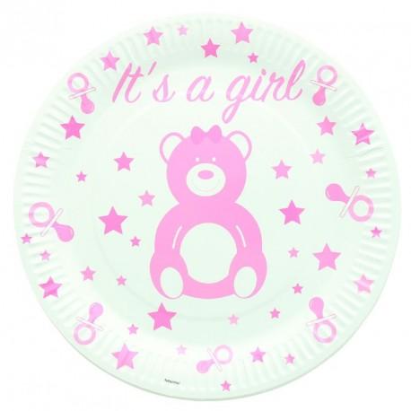 10 assiettes Baby Shower et naissance Fille