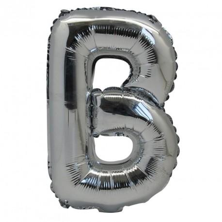 Ballon Lettre B métal argenté 36cm