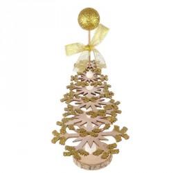 Sapin de Noël paillettes dorées