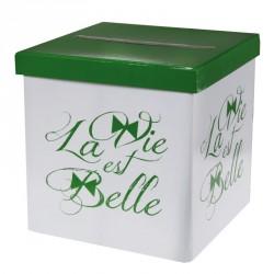 """Urne """"La vie est belle"""" pour reccueillir vos voeux de bonheur"""