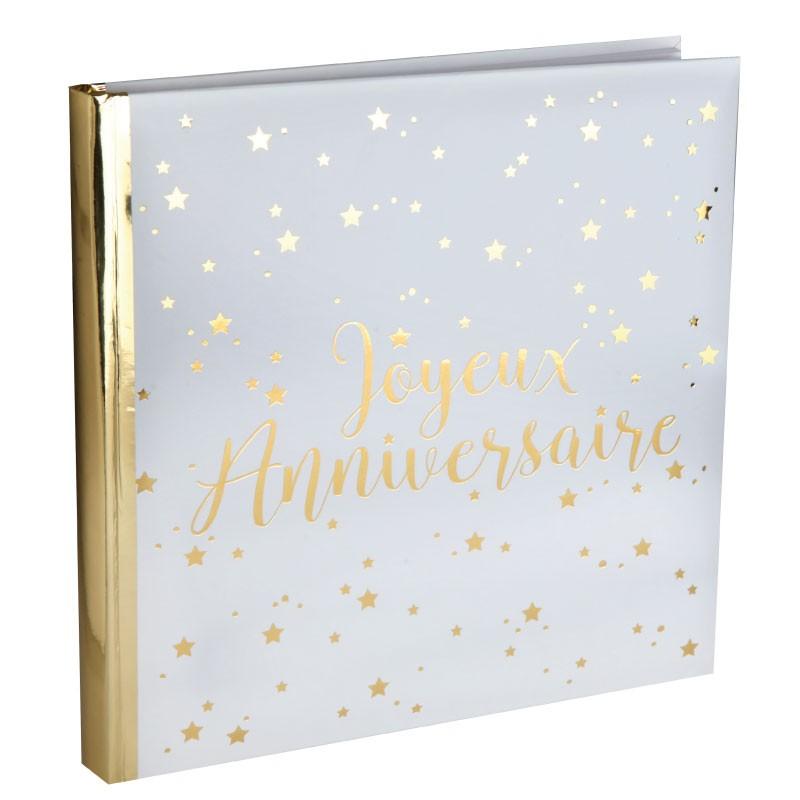 livre d 39 or joyeux anniversaire blanc et or original drag es anahita. Black Bedroom Furniture Sets. Home Design Ideas