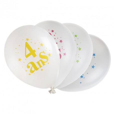 8 ballons Anniversaire 4 ans très résistants pour durer tout au long de sa fête.