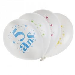 8 ballons Anniversaire 5 ans qui conviennent aussi bien aux petits garçons qu'aux petites filles.