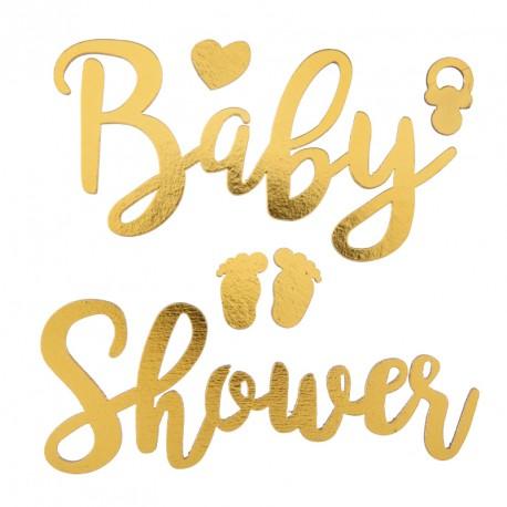 Baby Shower Or autocollant pour une décoration unique des contenants.