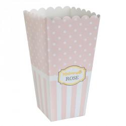 """8 boites Pop Corn """"Mademoiselle Rose"""" pour une fête très """"girly""""."""