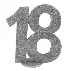 Chiffre Anniversaire 18 ans pour sublimer la décoration de vos tables de réception.
