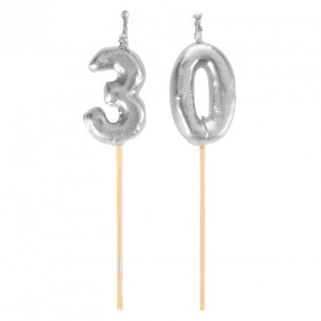 Bougies Joyeux Anniversaire 30 ans pour donner du pep's à votre délicieux gâteau.