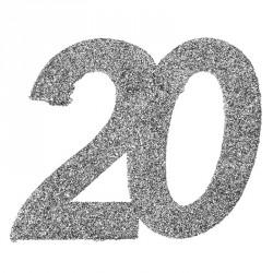 Confetti pailleté Anniversaire 20 ans pour créer une ambiance festive et chaleureuse dans votre salle de réception.
