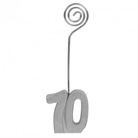 2 Marques-place Anniversaire 70 ans pour une décoration de table tendance et personnalisée.