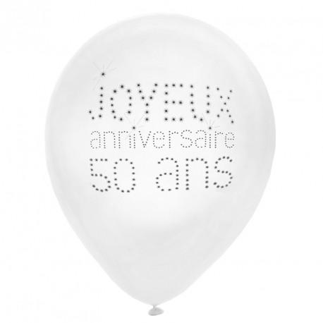 8 Ballons Anniversaire 50 ans pour marquer fièrement cette étape de la vie.