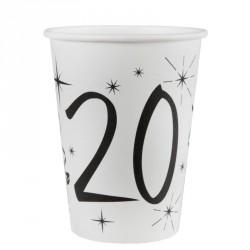 10 Gobelets Anniversaire 20 ans pour bien marquer son anniversaire.