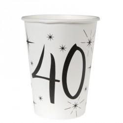 10 Gobelets Anniversaire 40 ans. Très pratiques et très élégants.