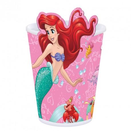 8 déco gobelets Princesses Disney - Avec la silhouette de Arielle