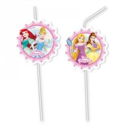 6 Pailles Princesses Disney pour décorer sa fête jusqu'au bout des... gobelets.