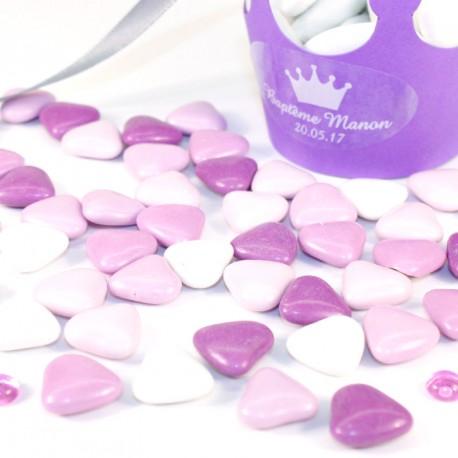 Coeur au chocolat assortiment lilas 500gr