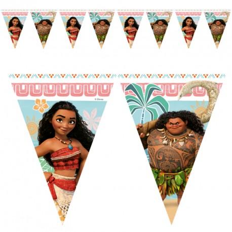 Guirlande Vaiana 9 drapeaux pour une fête très colorée.